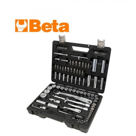 """Комплект Beta 903E/C98 тресчотки и аксосоари на 1/4"""" и 1/2"""" - 98 части"""
