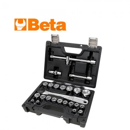 """Комплект Beta 923E/C25 тресчотка и аксосоари на 1/2"""" - 25 части"""
