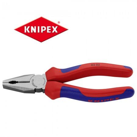 Клещи комбинирани Knipex 160mm с мултикомпонентни дръжки