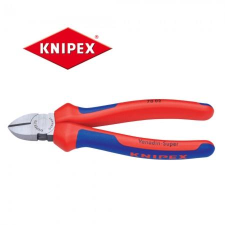 Клещи резачки Knipex 140mm с мултикомпонентни дръжки