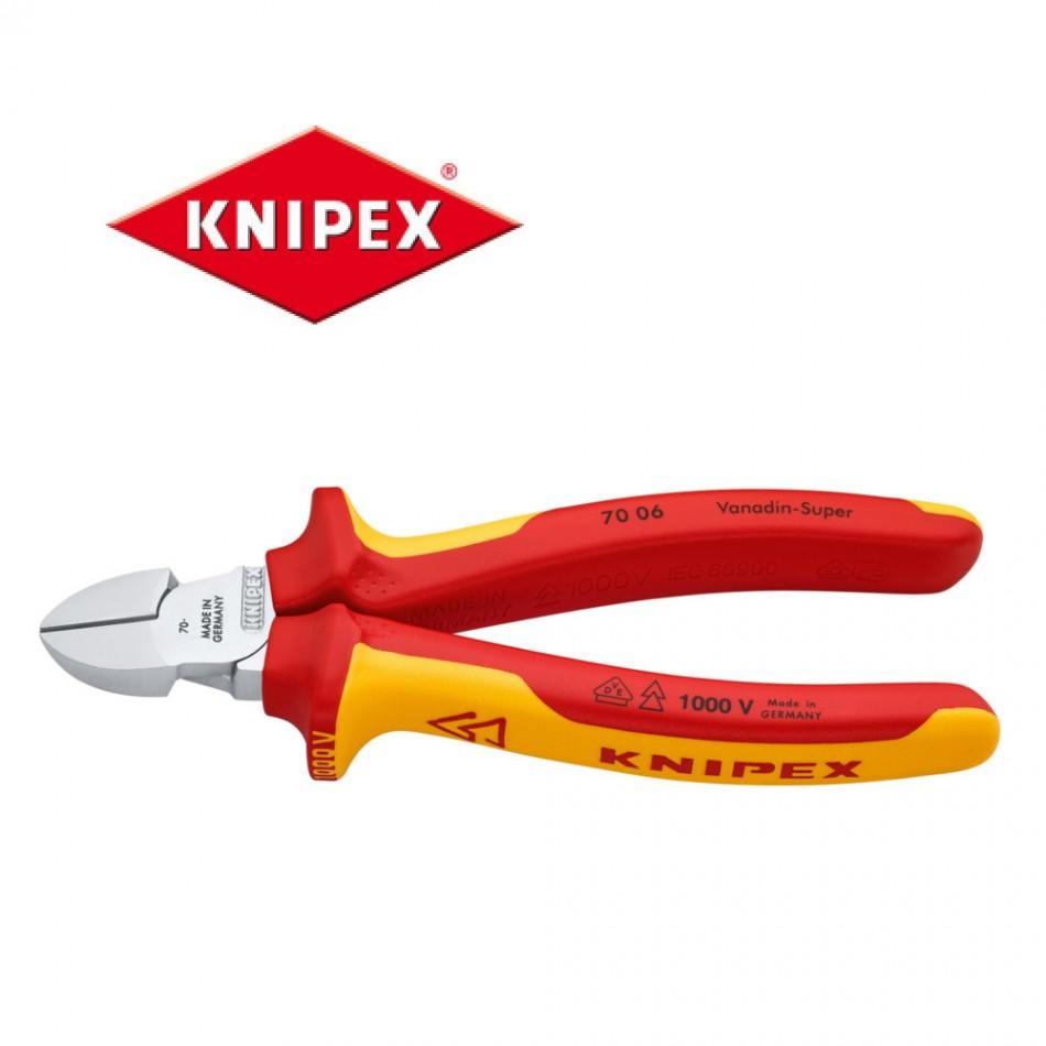 Клещи резачки Knipex 180mm изолирани 1000V