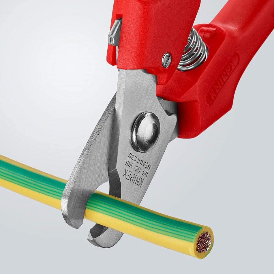 Kлещи (ножици) Knipex за рязане на кабели на кабели 10mm, 24mm2