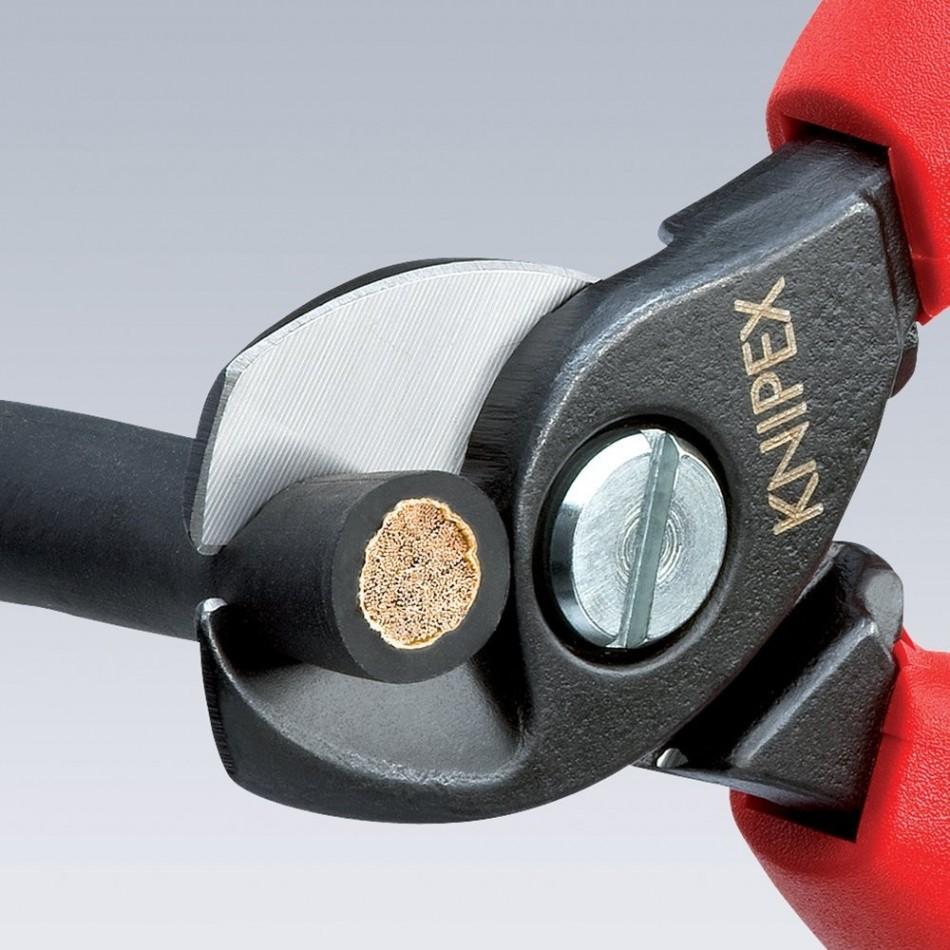 Kлещи (ножици) Knipex за рязане на кабели двустепенни 15mm, 50мм2