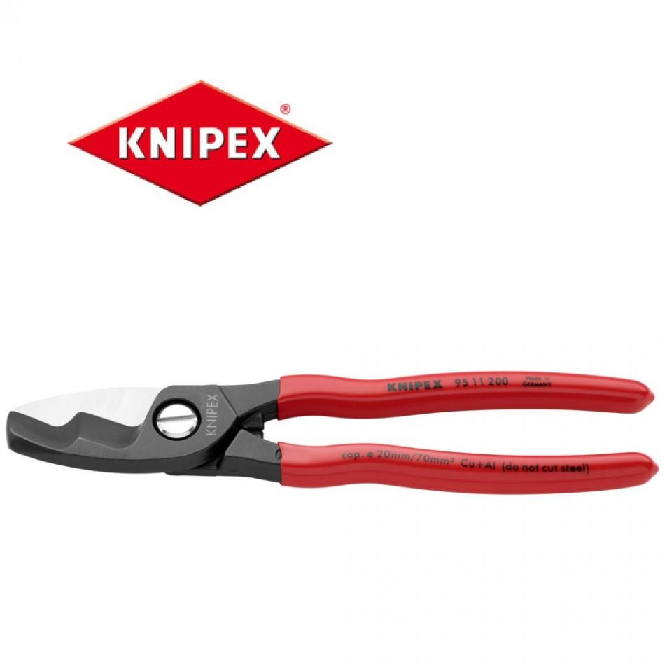 Kлещи (ножици) Knipex за рязане на кабели двустепенни 20mm, 70мм2