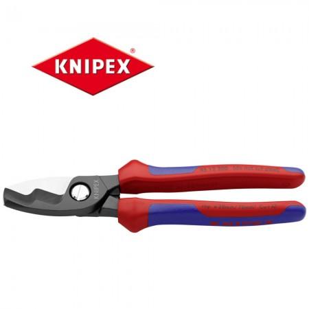Kлещи (ножици) Knipex за рязане на кабели двустепенни 20mm, 70мм2 , с мултикомпонентни дръжки
