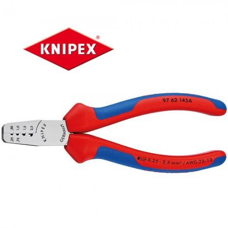 Kлещи Knipex за кербоване 0.25-2.5mm2, с мултикомпонентни дръжки