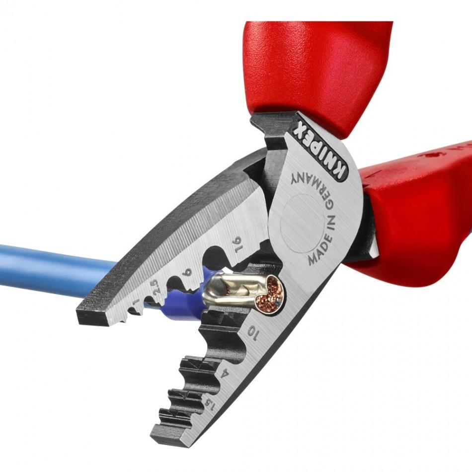 Кримпващи клещи Knipex за накрайници 0.25-16.00mm2
