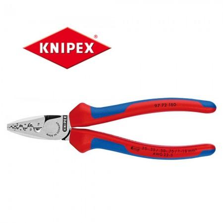 Кримпващи клещи Knipex за накрайници 0.25-16.00mm2, с мултикомпонентни дръжки