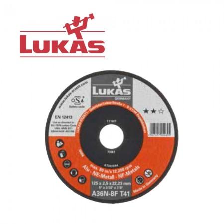 5 бр. Диск за рязане 125х2.5 A36N-BF ALU Lukas