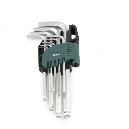 Имбусни ключове със сферична глава комплект 9 бр.