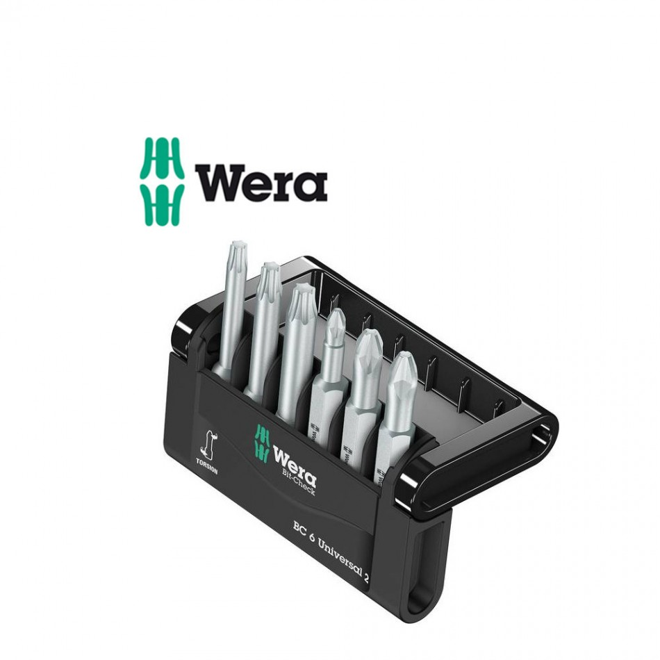 Комплект Wera Bit-Check 6 Universal2 - 6 бр накрайници