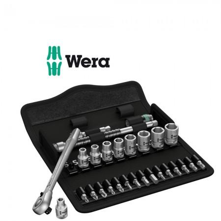 "Комплект тресчотка WERA Zyklop Metal 1/4"" вложки и накрайници - 28 части"