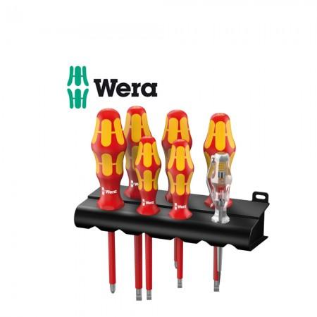 Комплект 6 бр. отвертки Wera Kraftform Plus изолирани (1000V) + фазомер