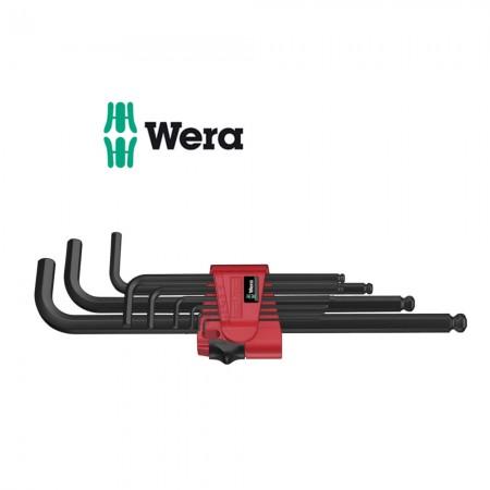 Комплект 9 бр. имбусни ключове удължени метрични Wera