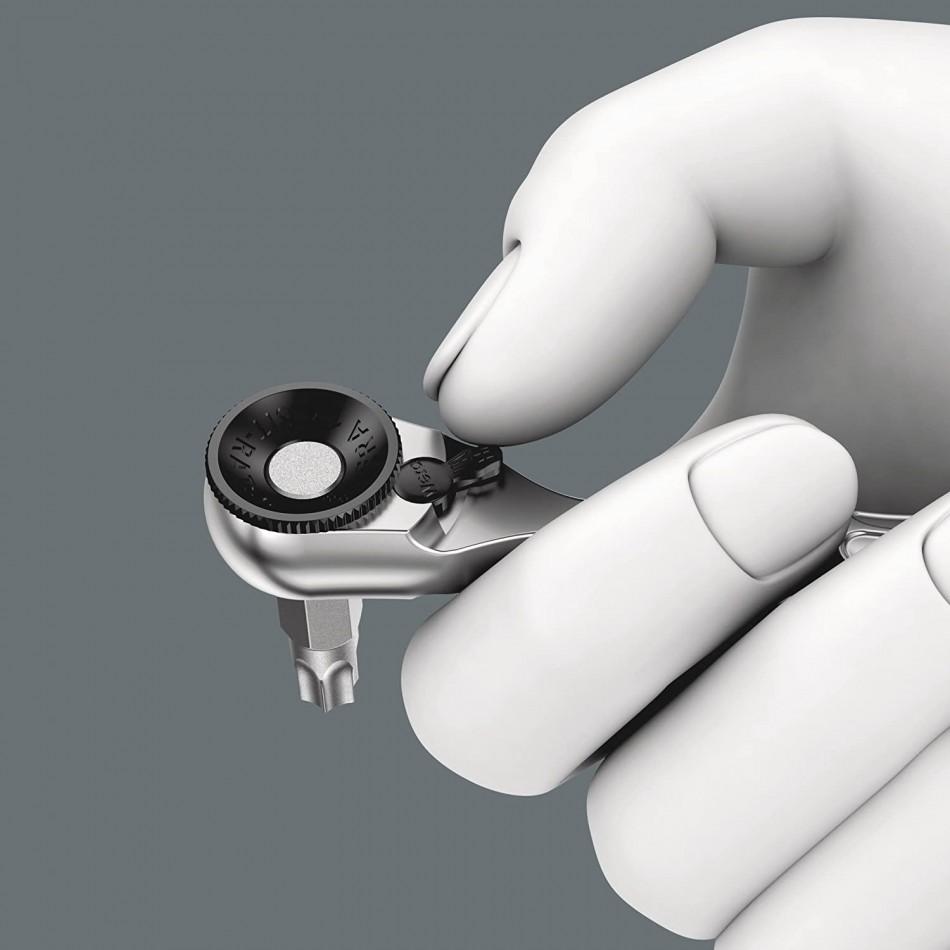Комплект Wera Bit Check - 9 бр накрайници с тресчотка Zyklop mini