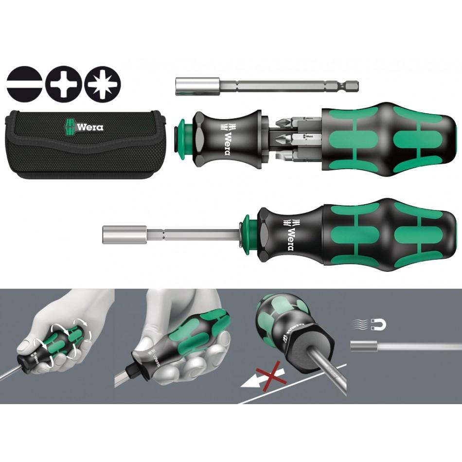 Ръкохватка за накрайници Wera КК28 с 6 бр накрайници