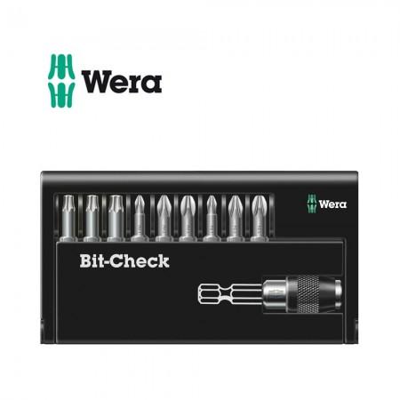 Комплект Wera Bit-Check - 9 бр накрайници с държач